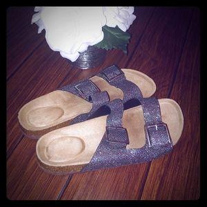 Glitter size 9 ladies sandals